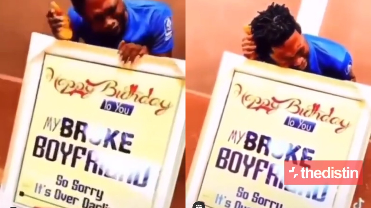 Man cries after his girlfriend broke his heart on his birthday