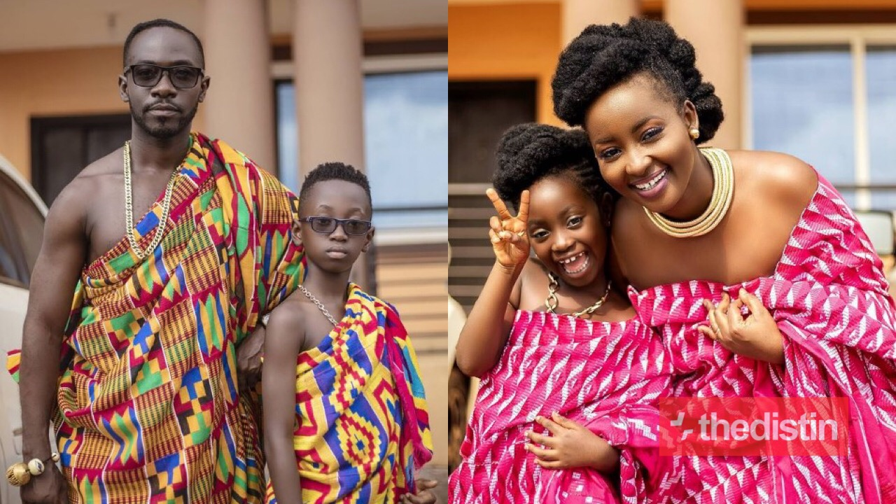 Okyeame Kwame's Wife And Their Two Kids