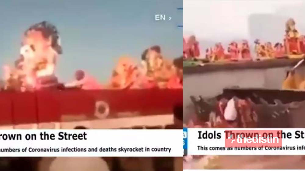 Over 1,000 Angry Indians Throw Out Their gods As COVID-19 Cases Keep Increasing After All The Sacrifices They Made For Protection (Video)