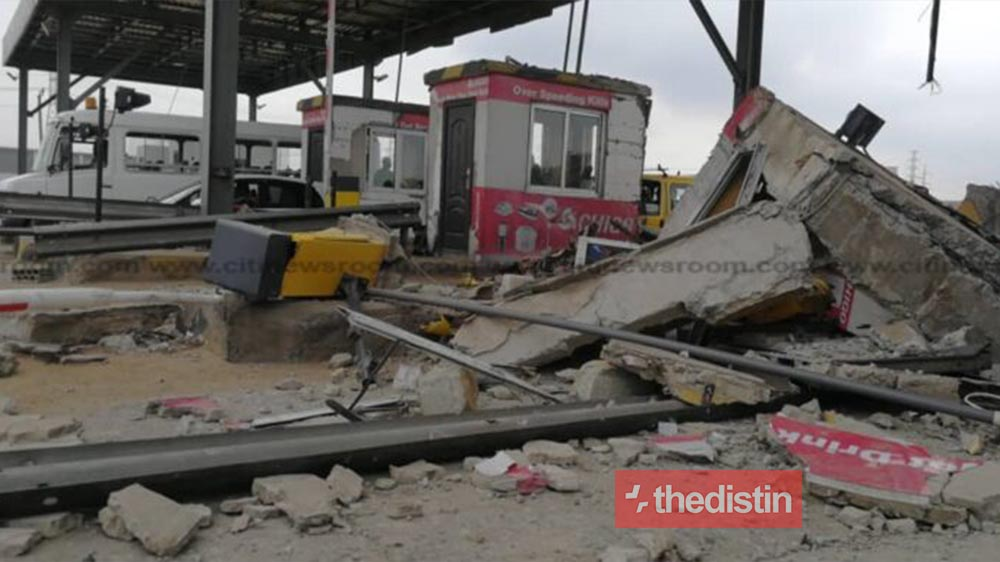 Tema Tollbooth Accident: 56-year-old Hearing-impaired Cleaner Confirmed Died After He Was Rushed To The Tema General Hospital (Video)