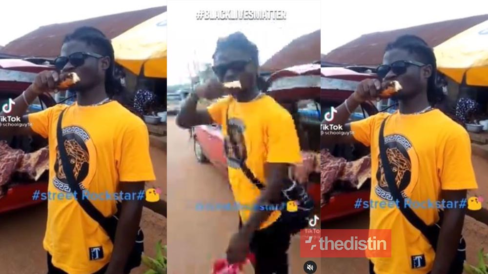 Video Of Kuami Eugene's Lookalike Chewing Corn Causes A Stir On Social Media, Ghanaians React