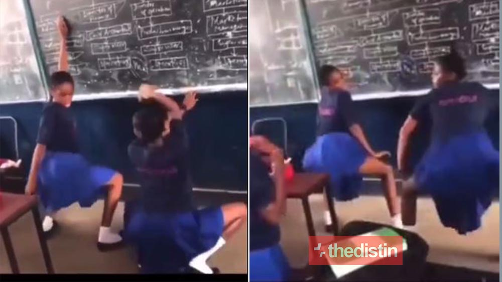 See How These SHS Girls Are Tw3rking And Whining In Class Instead Of Learning (Video)